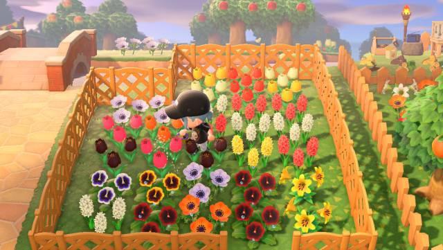 Animal Crossing, jardín