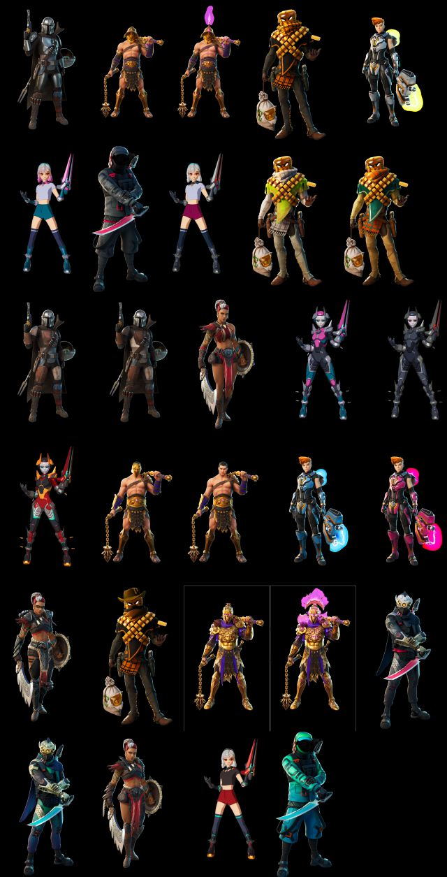 Todos Los Skins De Fortnite Temporada 5 Y Objetos Cosmeticos Meristation We went through and searched for all 40 characters on the map. todos los skins de fortnite temporada 5