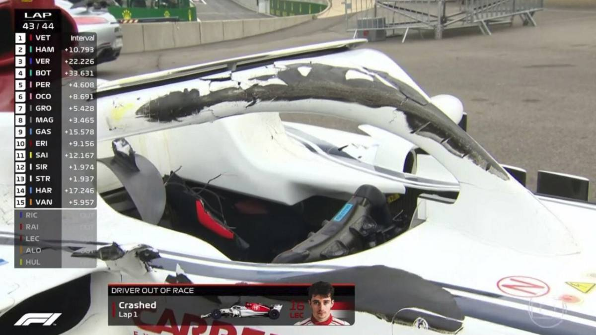 F1 Así Es El Halo El Elemento De Seguridad Que Salvó A Leclerc As Com