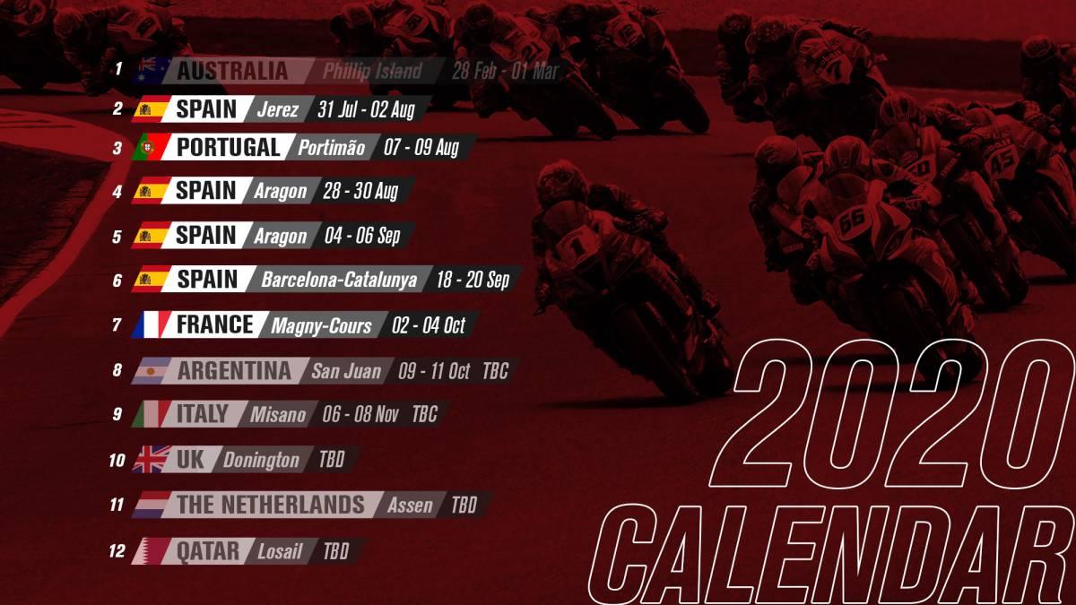 Motociclismo Oficial Superbike Ya Tiene Calendario Para 2020 As Com