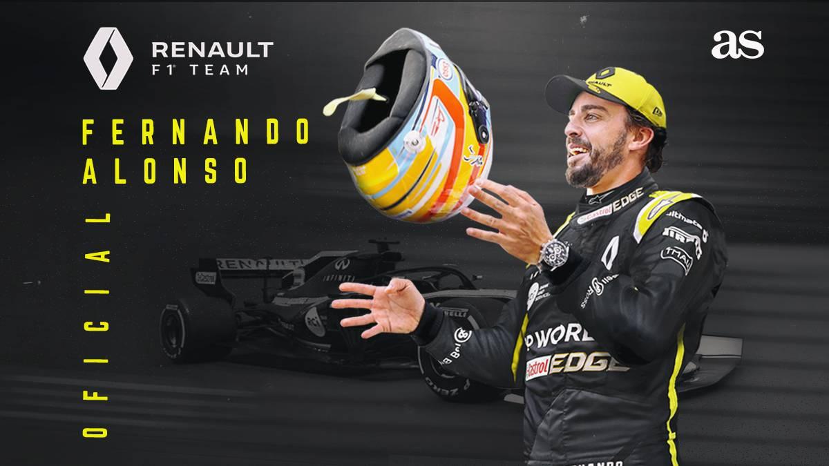 F1 | Oficial: Alonso ficha por Renault - AS.com