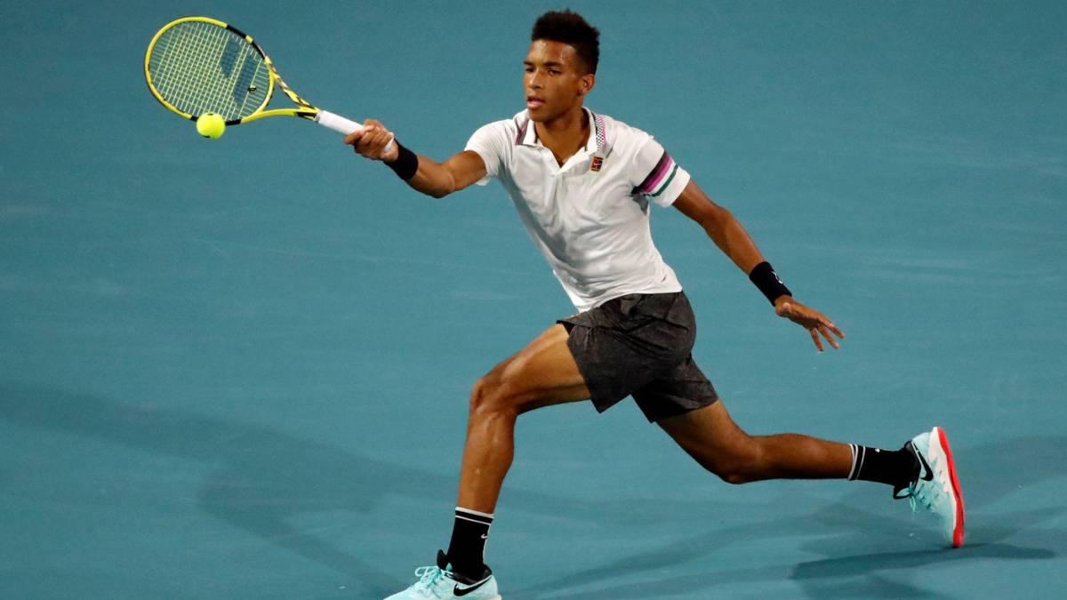 Tenis: Auger-Aliassime, el semifinalista imberbe de 18 años - AS.com