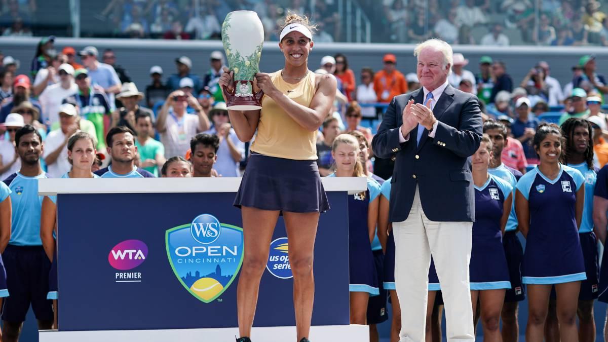 La norteamericana Madison Keys se lleva el trofeo de Cincinnati tras derrotar en dos sets en la final a la rusa Svetlana Kuznetsova