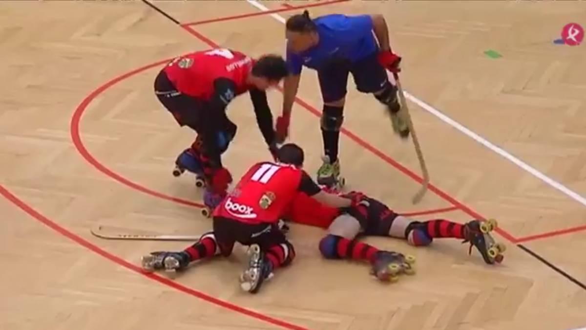 Vídeo | Golpea a su rival con el stick en la cabeza durante un ...
