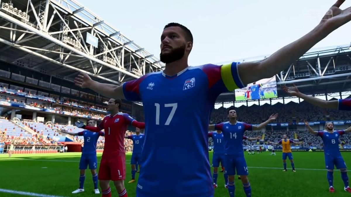 982277a06d8ea Video  ¡Piel chinita! La celebración vikinga de Islandia en el FIFA ...