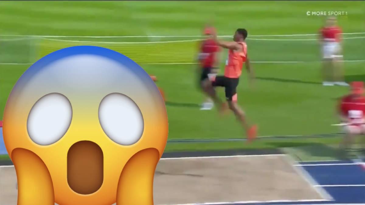 Un atleta cubano saltó más allá del foso de arena - AS.com aba540cc01d9f