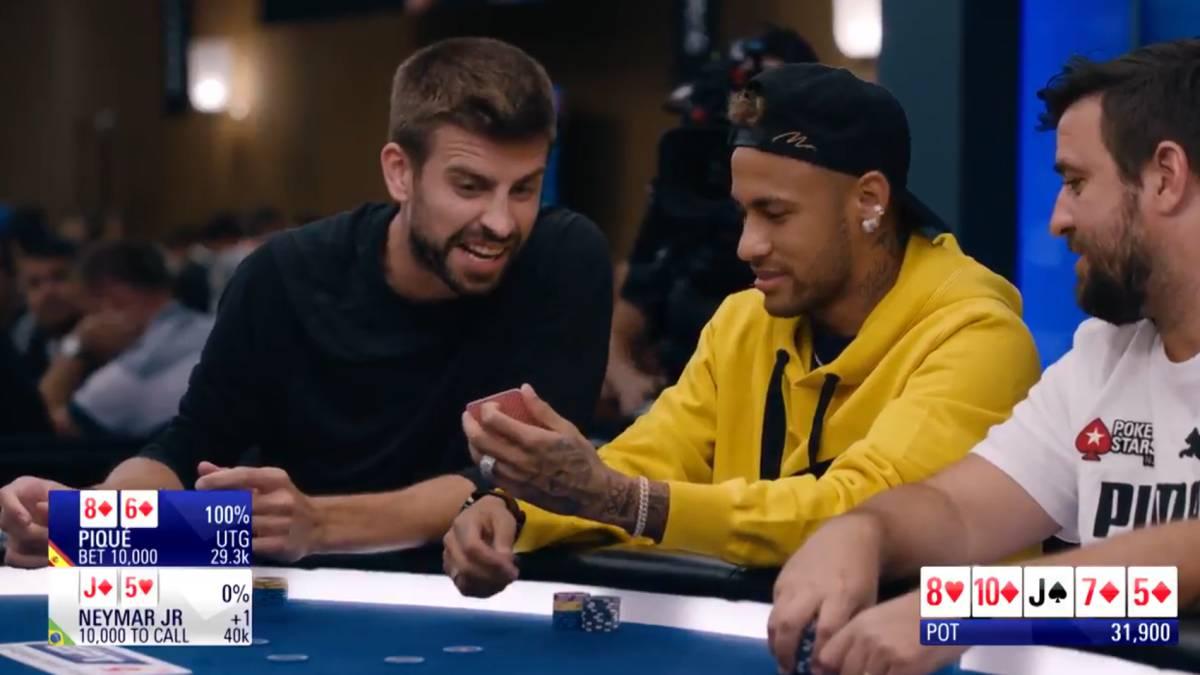 Vídeo: Piqué y Neymar jugando una mano de poker: los vaciles mutuos son  tremendos - AS.com